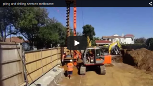 piling melbourne - video of piling contractors at work